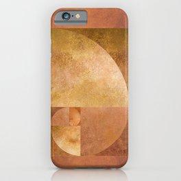Golden Ratio, Golden Spiral Art iPhone Case