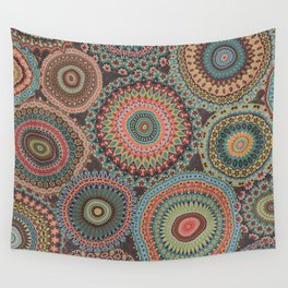 Boho Patchwork-Vintage colors Wall Tapestry