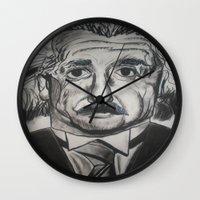 einstein Wall Clocks featuring Einstein  by jleto123
