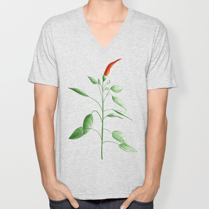 Little Hot Chili Pepper Plant Unisex V-Neck