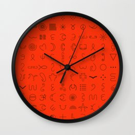 Relic - Red and Black Wall Clock