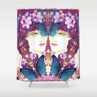 nouveau Shower Curtains featuring Nouveau by Kundalini Arts