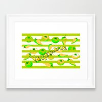 vegetable Framed Art Prints featuring Vegetable by LoRo  Art & Pictures