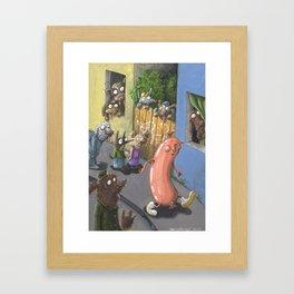 The Frivolous Sausage Framed Art Print