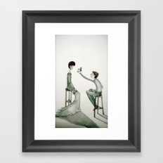 i can almost see you Framed Art Print
