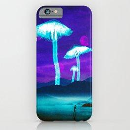 Glowy Shrooms iPhone Case