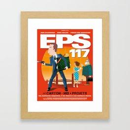 EPS 117 - Le carton Framed Art Print