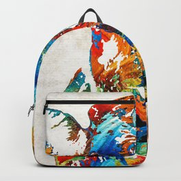 Colorful Cow Art - Mootown - By Sharon Cummings Backpack