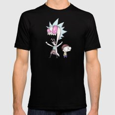 Zim & Morty MEDIUM Mens Fitted Tee Black