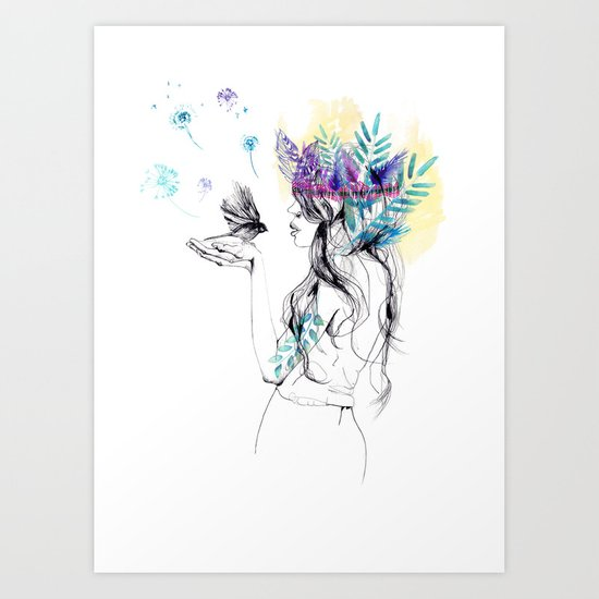 Nature Girl Art Print