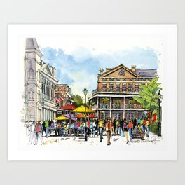 Chartres Street, New Orleans Art Print