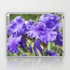 Purple Bearded Irises Laptop & iPad Skin