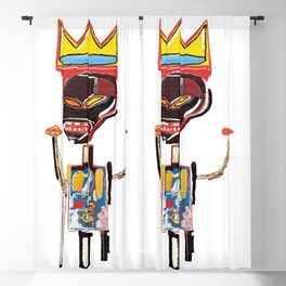 Homage to Basquiat Untitled Blackout Curtain