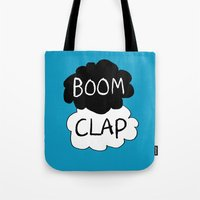charli xcx Tote Bags featuring Boom Clap (the sound of my heart - TFIOS) by Tangerine-Tane