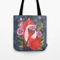 oana befort Tote Bags featuring FOX & FLORA by Oana Befort
