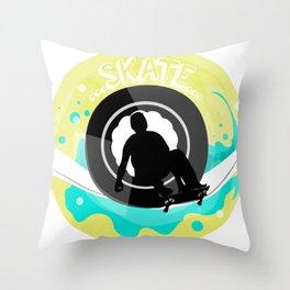 Skate wheels Throw Pillow