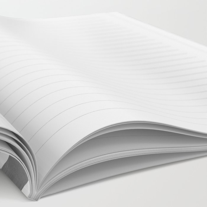 Stripes in Grey Notebook