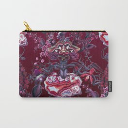 Merlot pattern on burgundy Carry-All Pouch
