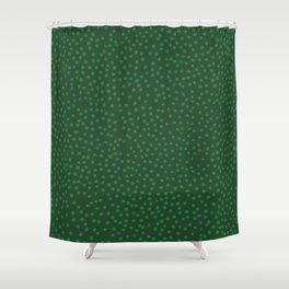 Green Dot Pattern Shower Curtain