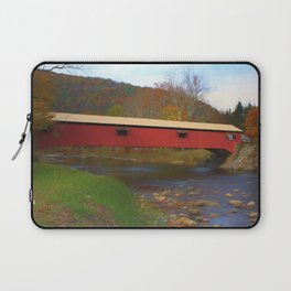 Forksville Covered Bridge Laptop Sleeve