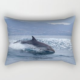 Wild and free bottlenose dolphin Rectangular Pillow