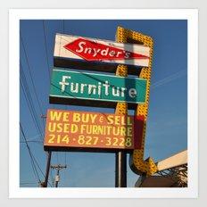 Snyder's Furniture (Square) Art Print