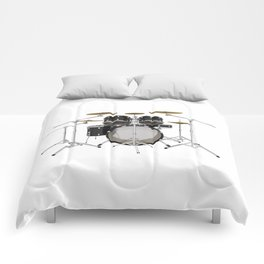 Black Drum Kit Comforters