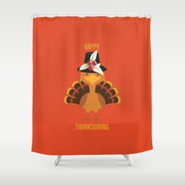 Happy Thanksgiving Shower Curtain