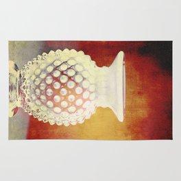 Hobnail -- Still Life with Vintage Vase Rug
