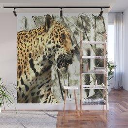 tree branch african safari animal leopard Wall Mural