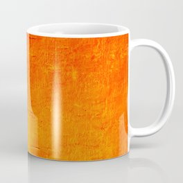 Orange Sunset Textured Acrylic Painting Coffee Mug