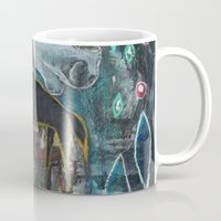 compass Mugs featuring Compass by Pixie Campbell