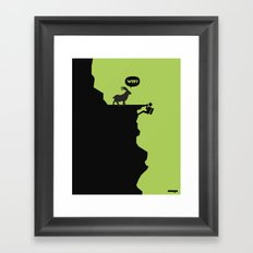 WTF? Framed Art Print