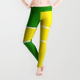 Team Colors 6...Yellow,green Leggings