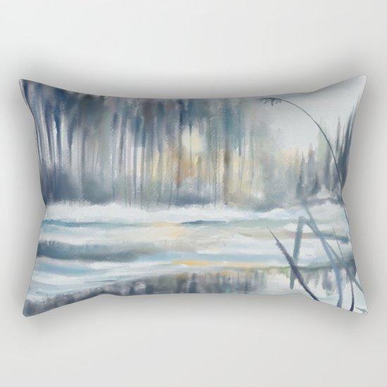 Yesterday's Snow Rectangular Pillow