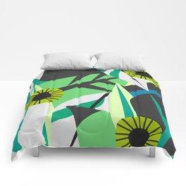 Fresh tropical decor Comforters