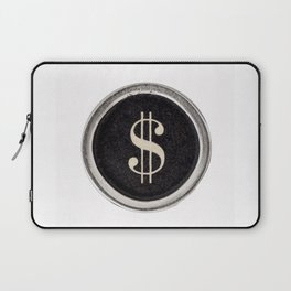 Vintage Dollar Sign Laptop Sleeve