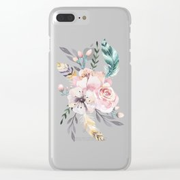 Forest Floral Pink by Nature Magick Clear iPhone Case