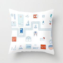 Casa de playa Throw Pillow