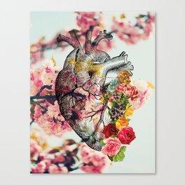 Heart & Flowers Canvas Print