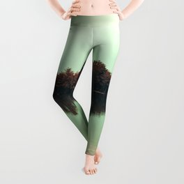 Sparkling red forest Leggings