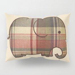 Plaid Elephant  Pillow Sham