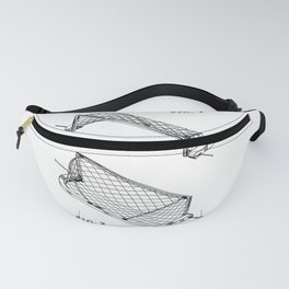 Water Polo Goal Vintage Patent Hand Drawing Fanny Pack