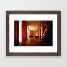 curtain room Framed Art Print