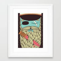 captain Framed Art Prints featuring Captain Hope by Alejandro Giraldo