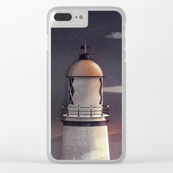Sea of Light Clear iPhone Case