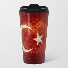 National flag of Turkey, Distressed worn version Travel Mug