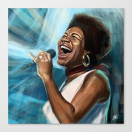 Aretha Franklin Still Sings Canvas Print