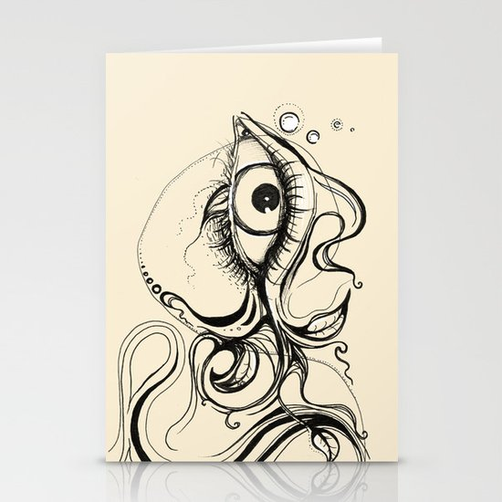 Eye Fish Doodle Stationery Cards