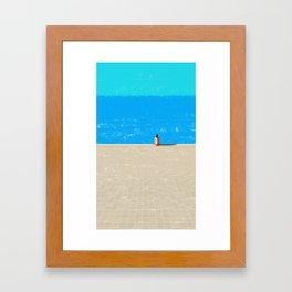 beach-1 Framed Art Print